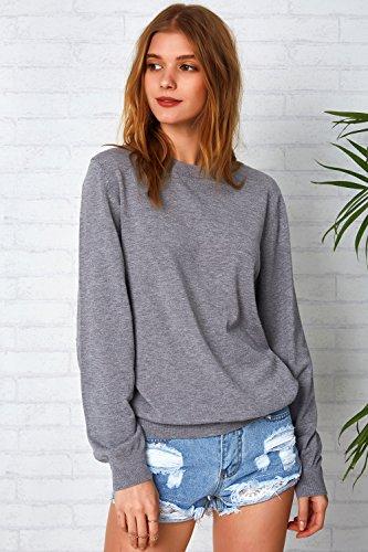 07de352824 Jual CUPSHE Women s Long Sleeve Pullover Sweatshirt Cat Embroidered ...