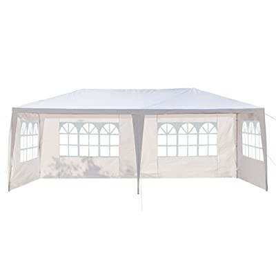 "20"" x 10"" Four Sides Outdoor Party Wedding Canopy Tent, Portable White Gazebo Tent for Outdoor Event Waterproof, Removable Sidewalls, Upgraded Spiral Tube: Sports & Outdoors"