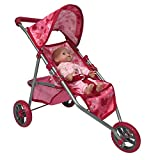The New York Doll Collection A194 Doll Jogging Stroller