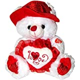 "Musical ""I Love You"" Teddy Bear with Red Hat (11"") Plays ""The Love Song"" - Best Valentine's Day Gifts: Valentines Day Gifts for Her, Valentines Day Gifts for Him, Valentines Day Gifts for Girlfriend, Valentines Day Gifts for Boyfriend, Valentines Day Gifts for Men, Valentines Day Gifts for Husband, Valentines Day Gifts for Wife, Valentines Day Gifts for Women"
