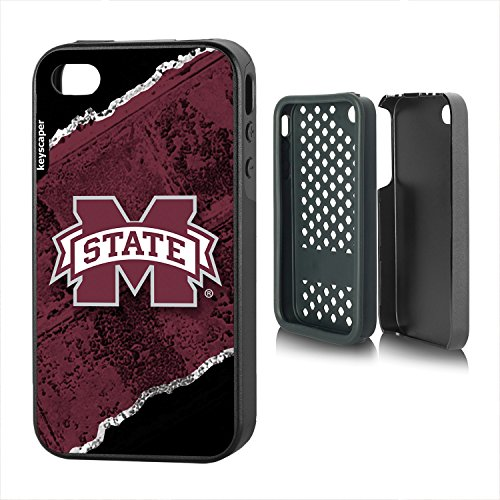 Mississippi State Bulldogs iPhone 4 & iPhone 4s Rugged Case officially licensed by Mississippi State University for the Apple iPhone 4/4s by keyscaper® Durable Two Layer Protection Shock Absorbing - Mississippi State Iphone 4 Case
