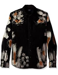 Men's Long Sleeve Hyde Wash Woven Shirt