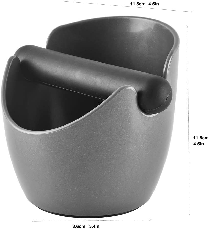 4.5in Shock-Absorbent Durable Non-slip Coffee Grounds Knock Box with 2pcs Detachable Knock Bar CAFEMASY Espresso Knock Box Mini