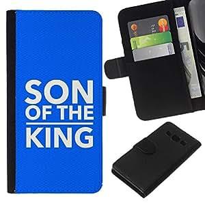 All Phone Most Case / Oferta Especial Cáscara Funda de cuero Monedero Cubierta de proteccion Caso / Wallet Case for Samsung Galaxy A3 // BIBLE Son Of The King