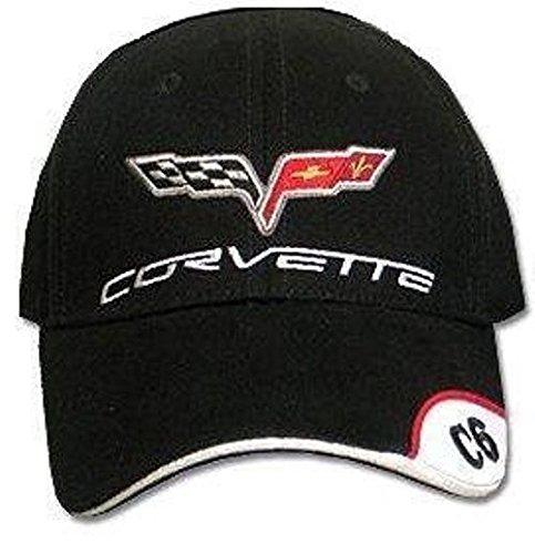 Chevrolet C6 Corvette Men's Embroidered Hat (Black)