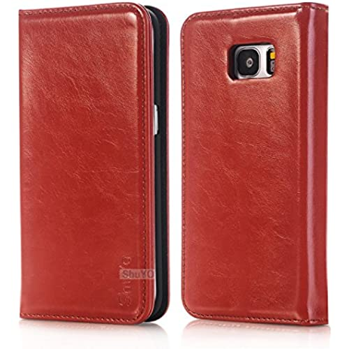 Galaxy S7 Edge Case, ShuYo [Quality Series] Luxury PU Leather 2 in 1 Magnetic Wallet Case Folio Stand Cover with Card Slots Cash Compartment For Samsung Sales