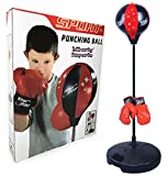 Liberty Imports Sport Boxing Punching Bag With Gloves Punching Ball for Kids 43''
