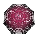 Umbrella Rain Women Full Automatic White Black Floral Guarda Chuva Chinese 3 Folding Anti UV Sun Umbrella sombrilla Playa,Item 2