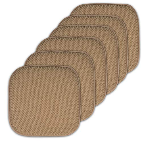 Seat Cushions Dining Chairs - Sweet Home Collection Cushion Memory Foam Chair Pads Honeycomb Nonslip Back Seat Cover 16