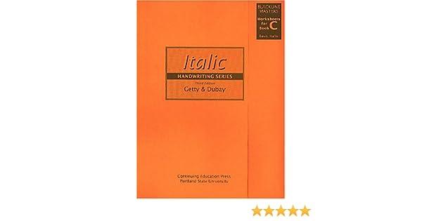Amazon.com: Getty-Dubay Italic Handwriting Series Blackline ...