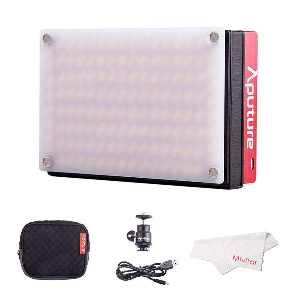 Aputure Amaran AL-MX LED Video Light 128 SMD LED Bi-Color On-Camera Video Light, TLCI/CRI 95+, 2800-6500K Adjustable, 3200lux@0.3m Booster Mode with Built in Battery by Aputure (Image #9)