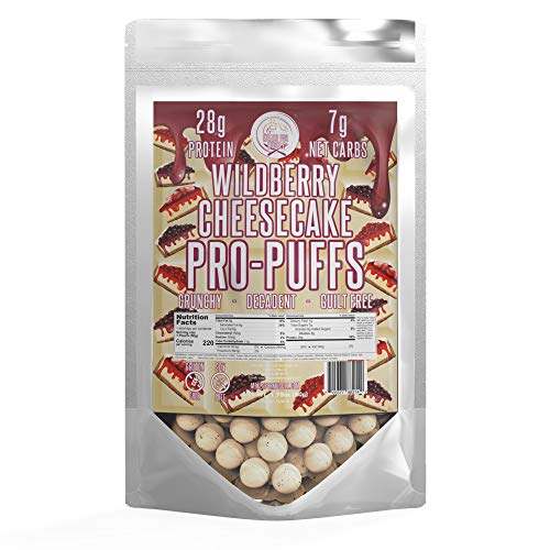 Pro-Puffs™ by Meals for Muscle – High Protein Puffs – Keto Friendly – Gluten and Soy Free (Wildberry Cheesecake, Single)