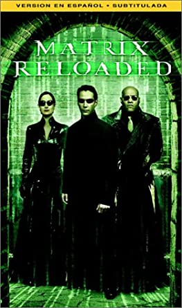 amazon com the matrix reloaded vhs keanu reeves laurence