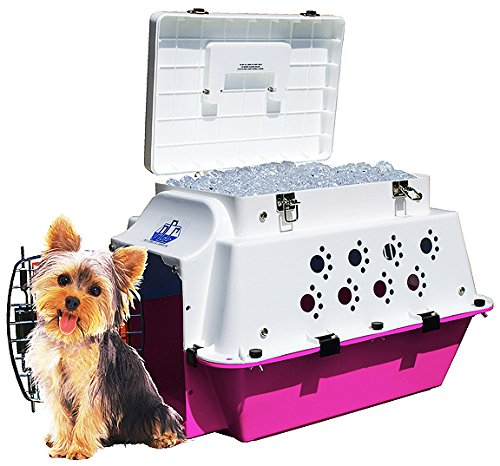Premium Pet Cooler Carrier – Cool for ALL Seasons! Cooling, Hydration, Storage, Sturdiness & Style.