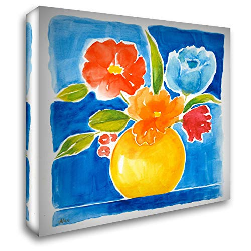 Sunny Day Bouquet I 48x48 Extra Large Gallery Wrapped Stretched Canvas Art by Nan