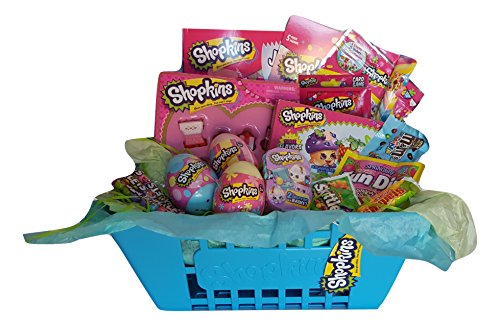 Shopkins Theme Activity Blue Gift Basket Bundle Set
