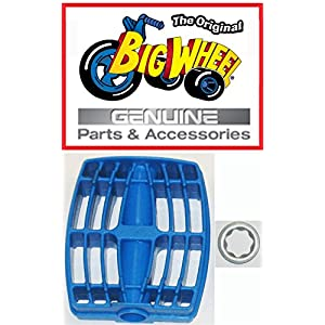 """1 each Blue PEDAL & WASHER for The Original """"Classic"""" Big Wheel 16"""", Replacement Parts, Set of 1 Pedal & 1 3/8"""" Washer , Blue, 1 of each"""