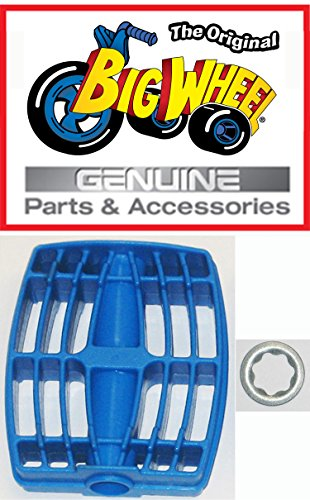 "1 each Blue PEDAL & WASHER for The Original ""Classic"" Big Wheel 16"", Replacement Parts, Set of 1 Pedal & 1 3/8"" Washer , Blue, 1 of each"