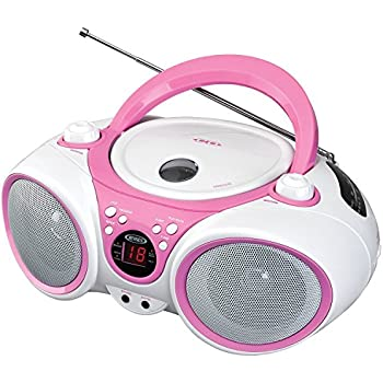 Jensen CD490PW Limited Edition 490 Portable Sport Stereo CD Player +CD-R/RW with AM/FM Radio and Aux Line-in Headphone Jack, Pink Amazon.com: Sylvania SRCD243