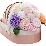 Creation Core Luxury Newborn Baby Girl/Boy Floral Shower Day Gift Basket(Pink Clothes Towel Set)