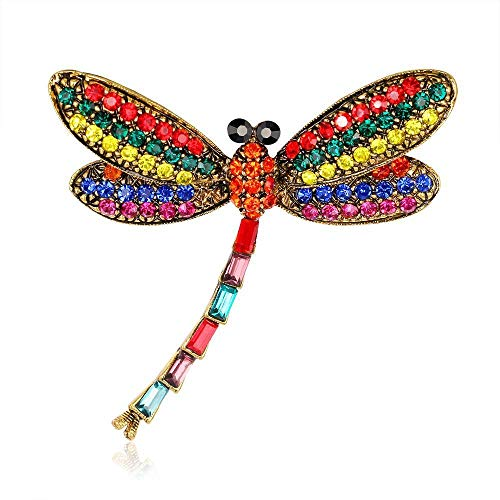Dragonfly Insect Rhinestone Vintage Brooch Pin Bridal Accessories Gift Jewelry