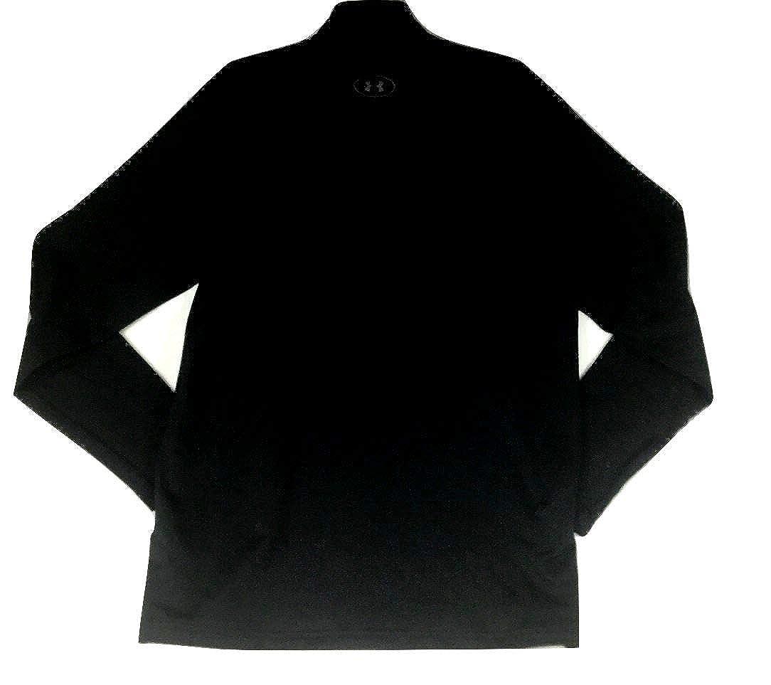 Black Under Armour Mens ColdGear Mock Neck Long Sleeve Shirt XL X-Large