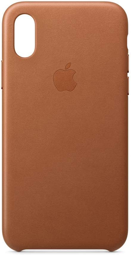Apple Leather Case (for iPhone Xs) - Saddle Brown