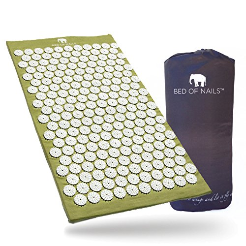 Bed of Nails, Green Original Acupressure Mat for Back/Body Pain Treatment, Relaxation, Mindfulness ()