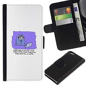 All Phone Most Case / Oferta Especial Cáscara Funda de cuero Monedero Cubierta de proteccion Caso / Wallet Case for Apple Iphone 6 // Funny Comic