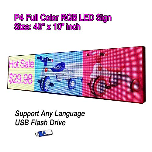 led Sign Full Color RGB hd Video Display P4 40