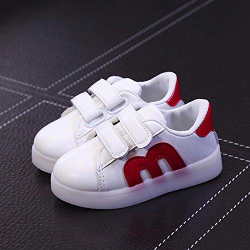 Transer Kleinkind Kinder Skate Schuhe Kinder Baby Schuhe LED Leuchten Leuchtende Turnschuhe Rd