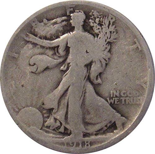 1918 P Walking Liberty Half Dollar 50c Average Circulated (Grading Walking Liberty Half Dollars)