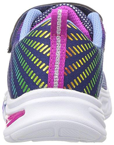 Skechers Kids Girls' Litebeams-Gleam N'DREAM Sneaker, Navy/Multi, 2.5 Medium US Little by Skechers (Image #2)