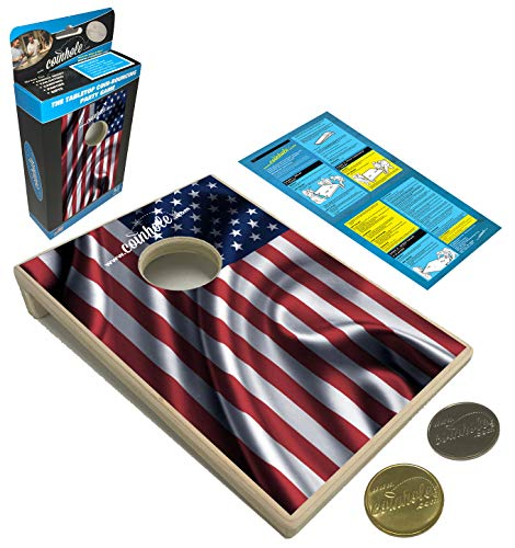Coin Toss Game (Coinhole Game (American Flag))
