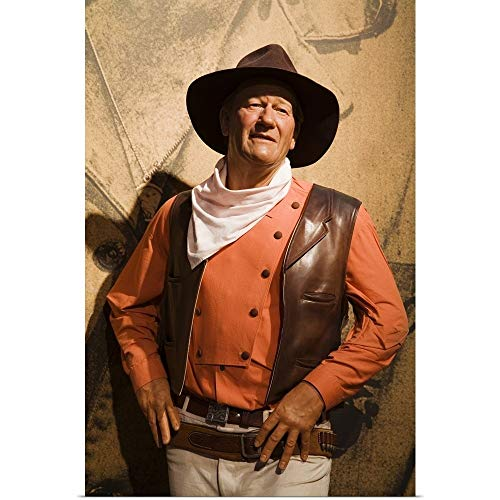 GREATBIGCANVAS Poster Print Entitled John Wayne, Madame Tussauds Wax Museum at Venetian Casino by 12