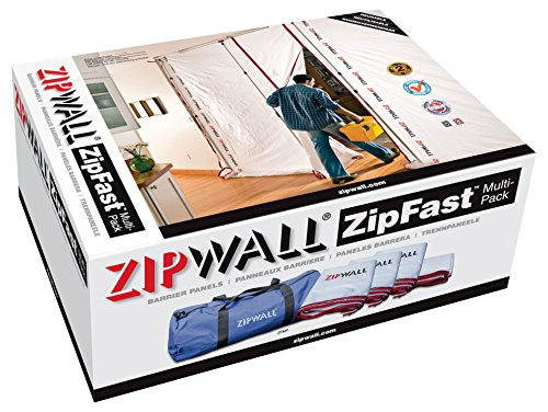 (ZipWall ZipFast Multi Size Pack, Reusable Barrier Panels for Dust Barriers,)