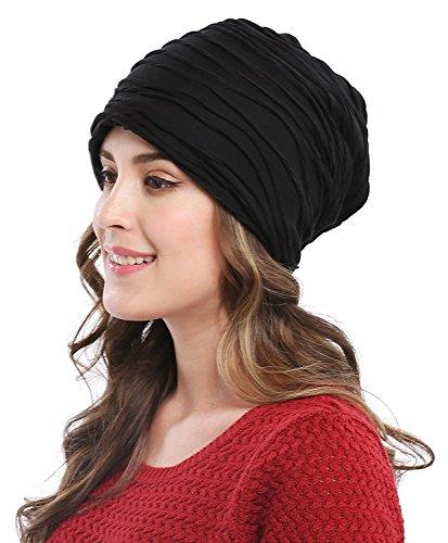 Bellady Unisex Women Men Winter Warm Ski Beanie Cap Crochet Skull Hat,Black