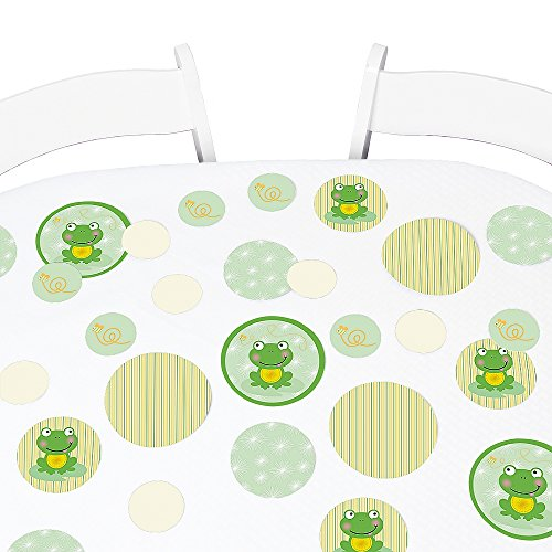 Big Dot of Happiness Froggy Frog - Baby Shower or Birthday Party Giant Circle Confetti - Party Decorations - Large Confetti 27 - Baby Shower Frog