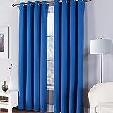 Fiesta 11821484COTPNL 100% Cotton Twill Window Curtain Panel, 50 x 84, Lapis Blue For Sale