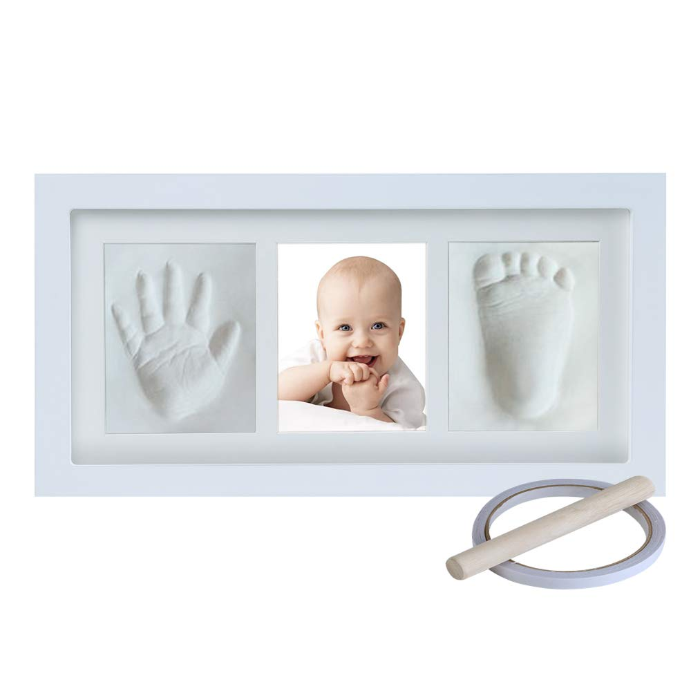 Baby Hand and Footprint Keepsake, Non-Toxic Clay Photo Frame Registry Kit for Wall Mount & Desktop Mount Decor, Perfect Shower Gift for Newborn Boys & Girls and Little Pets   NO Mold  