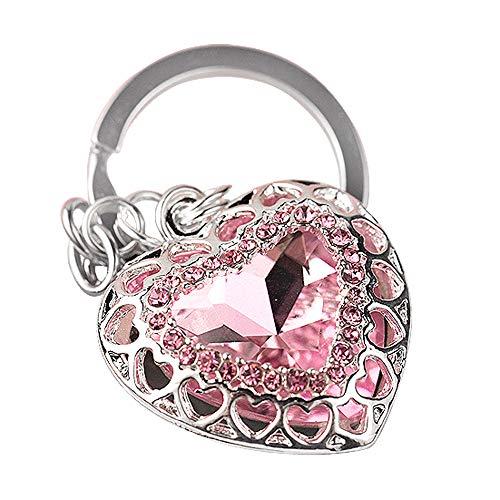 Z637 New Design Pink Heart Big Key Ring Keychain