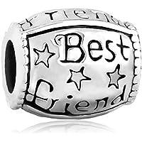Third Time Charm Best Friend Charm BFF Friendship Beads for Bracelets