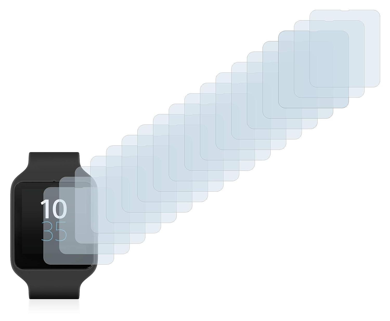 Savvies Protector de Pantalla para Sony Smartwatch 3 SWR50 [18 Unidades] - Transparente