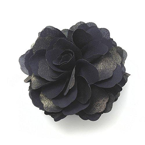 Jeweled Flower Banana (Meilliwish Flower Fabrics Hair Claw Clip (Dark Blue))