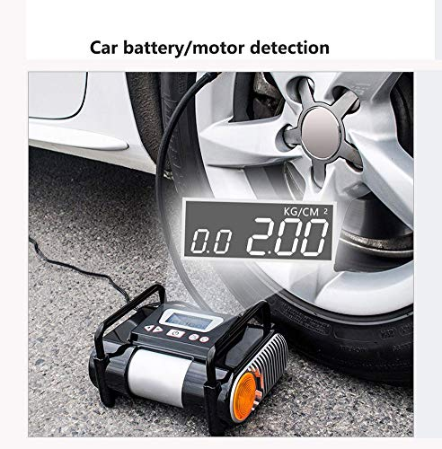 Tire Inflator/Air compressor,12V DC Tire Inflator Electric Portable Auto Air Compressor Pump to for Car,Truck, Bicycle, Basketball by HJJH (Image #1)