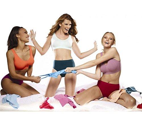 Reggiseno senza cuciture modellante sportivo donna MEDIA WAVE store (l, bianco)