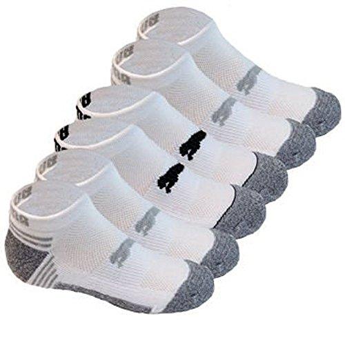 Puma Kids All Sport Cushioned Low Cut Socks - 6 Pack Shoe Size 9 - 3.5 (White/Gray/Black)
