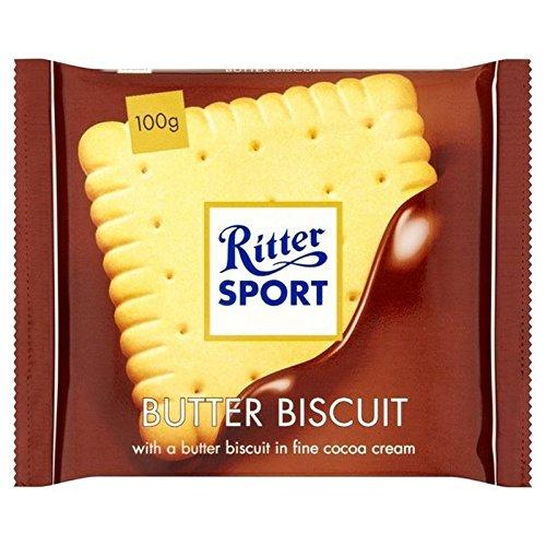 Ritter El Deporte De Mantequilla 100g De Galletas De Chocolate Con Leche (Paquete de 6
