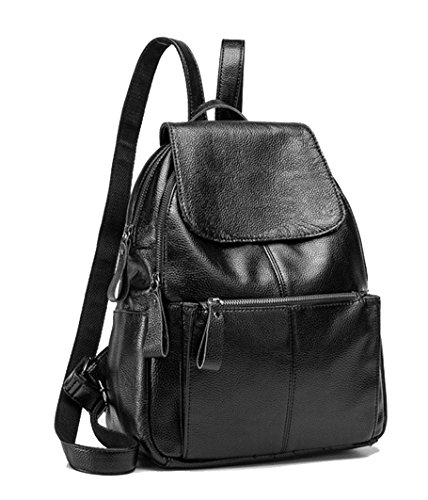 Bags Show Shoulder Leather Women's Yan Backpack Black Sheepskin RwqXxf