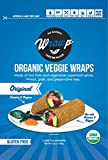 Raw Organic Original Veggie Wraps | Wheat-Free, Gluten Free, Paleo Wraps, Non-GMO, Vegan Friendly Made in the USA